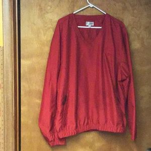 CUTTER & BUCK men's v neck pullover sz L red